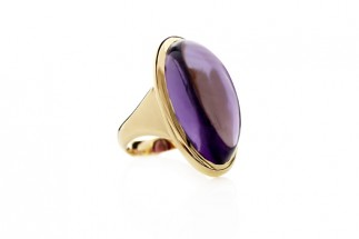 Harlequin Ring with Amethyst