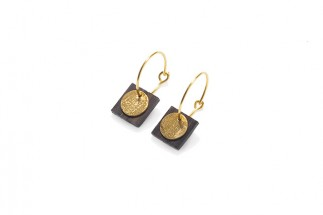 Earrings square w/circular pend. (Small)