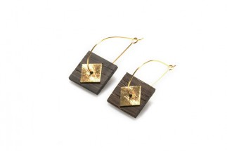 Earrings square w/square pend. (Medium)