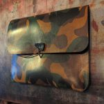 leather projects - camo -ipad cover