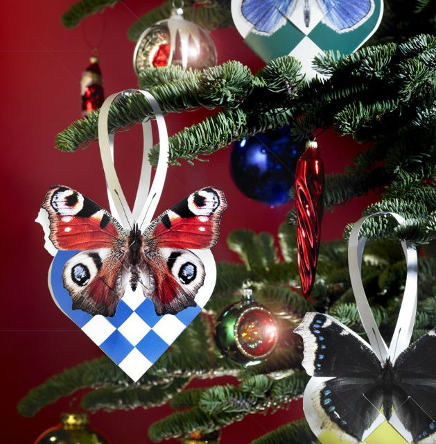 Butterfly Christmas Hearts